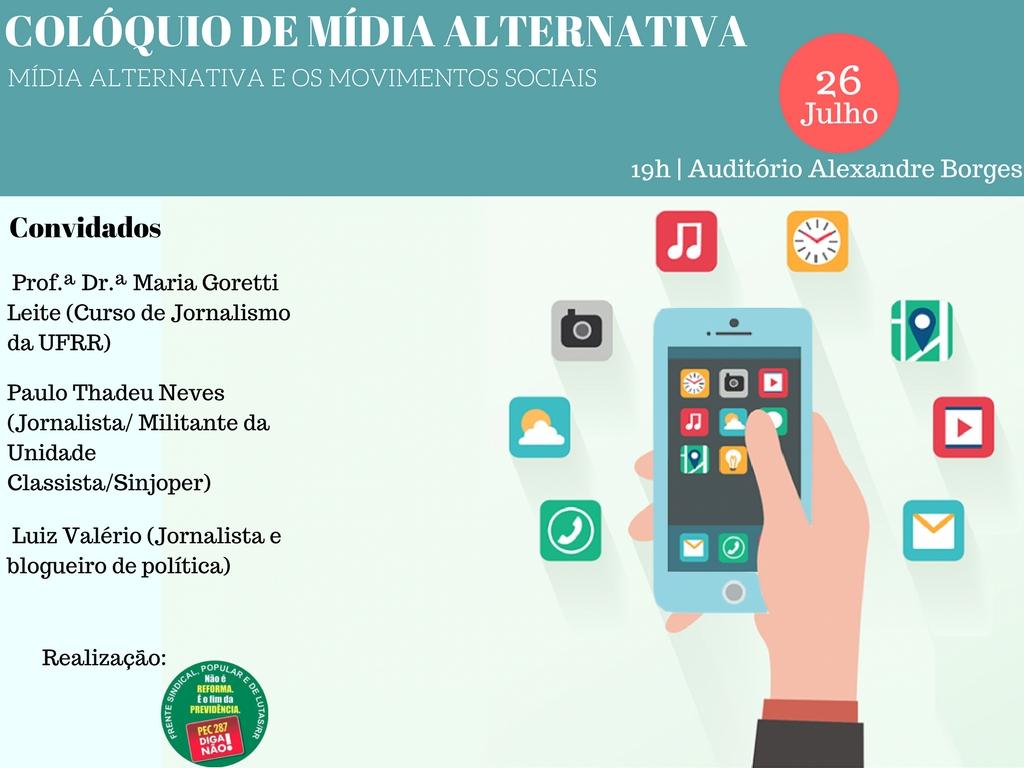 Frente Sindical Popular e de Lutas em Roraima promove colóquio sobre mídia alternativa