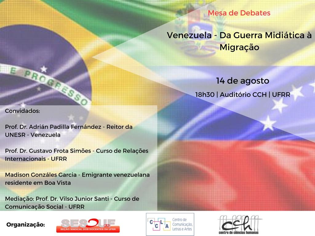 SESDUF - RR promove debate para discutir situação Venezuelana