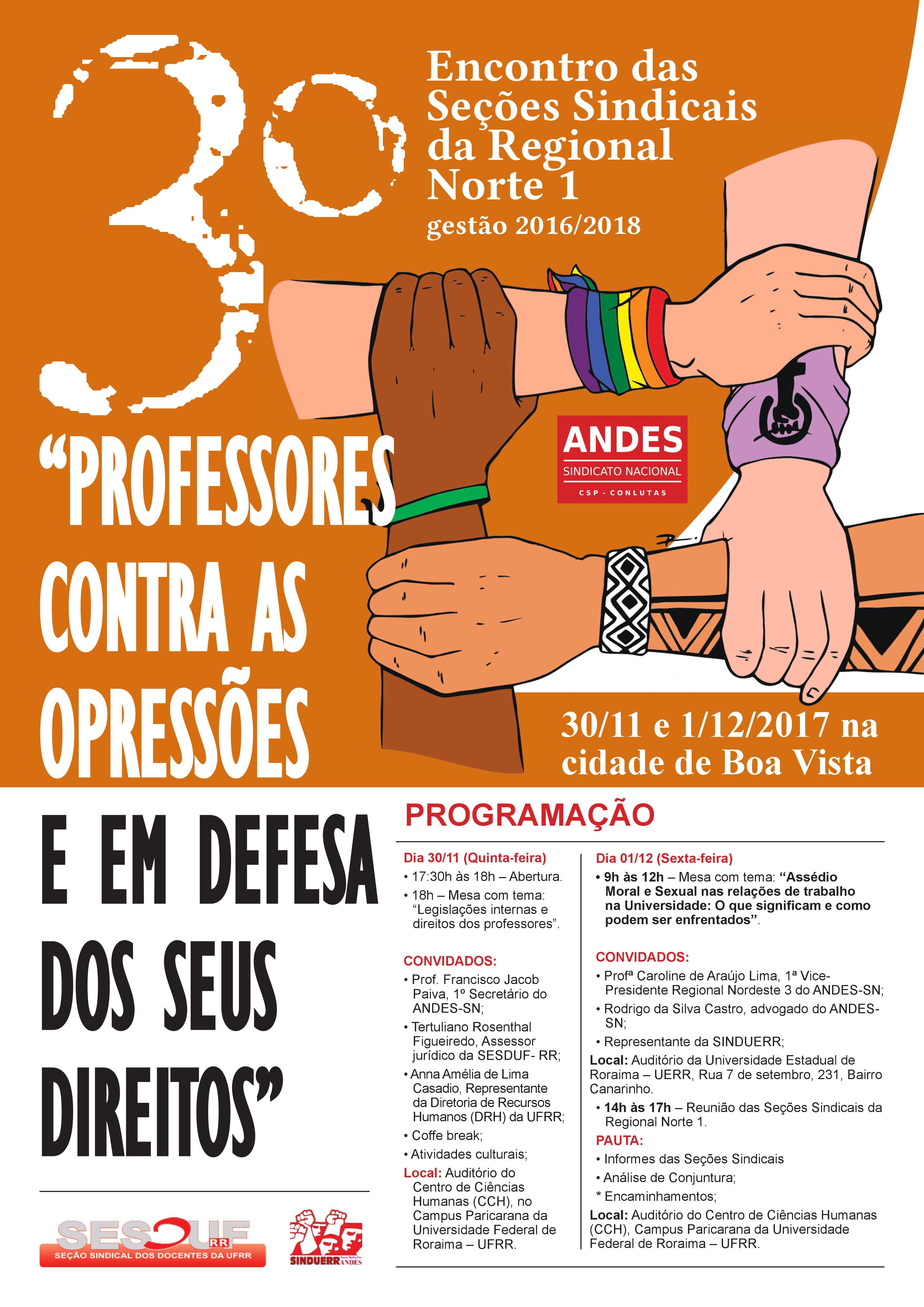 3º Encontro das Seções Sindicais da Regional Norte I do ANDES –SN acontecerá em Boa Vista