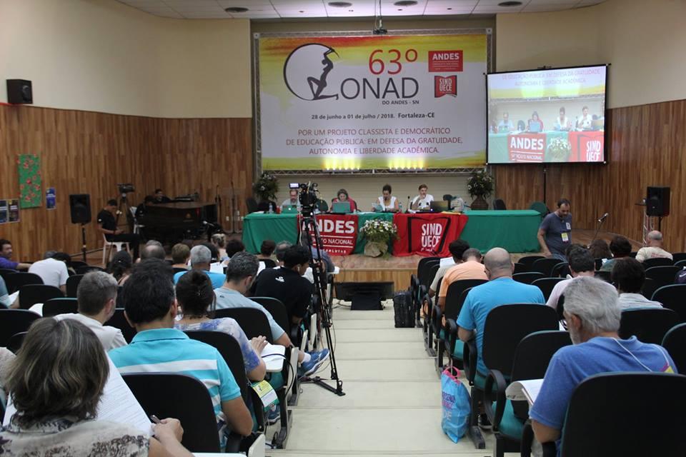 63º CONAD - Docentes definem agenda de lutas para os setores no segundo semestre