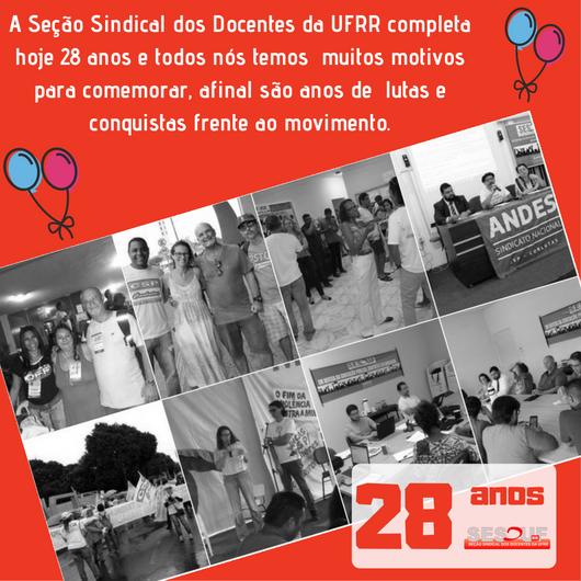 SESDUF-RR completa 28 anos de História e Luta