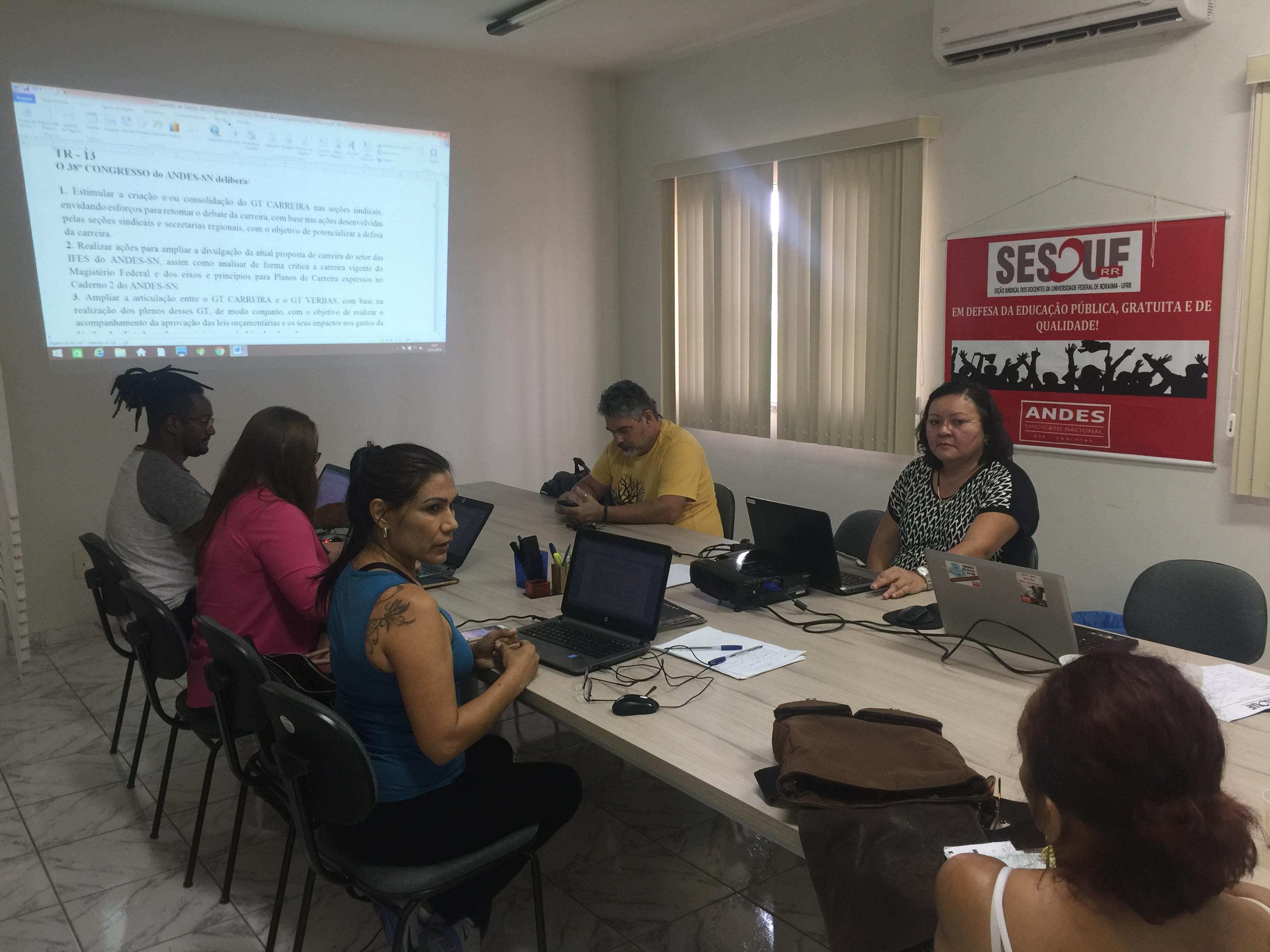 Diretoria e Base da SESDUF-RR realizam reunião ampliada para discussão de caderno de textos do 38º Congresso do ANDES-SN