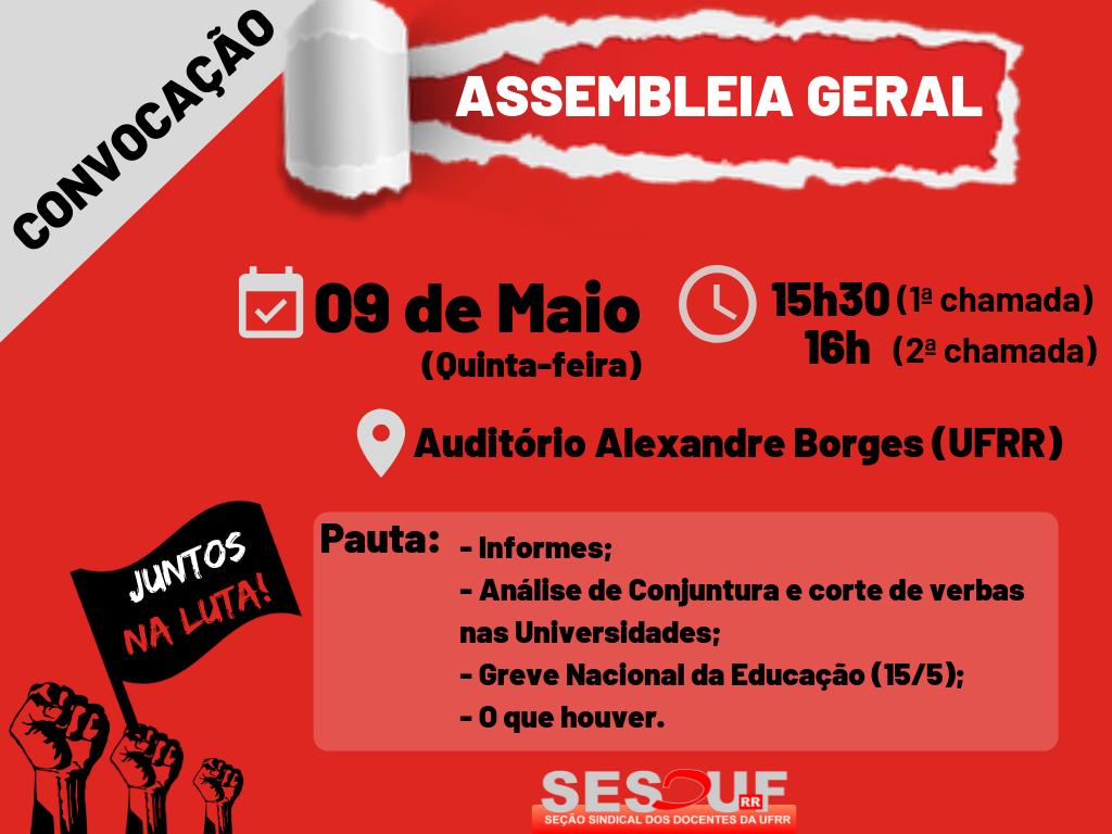 CONVOCAÇÃO - ASSEMBLEIA GERAL 9/5