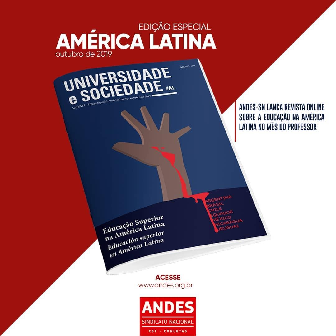 ANDES-SN lança edição especial da Universidade e Sociedade sobre a educação na América Latina