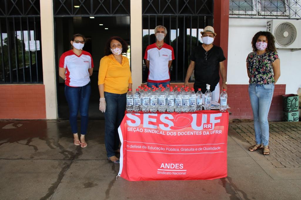 SESDUF-RR entrega 300 L de álcool e 570 máscaras em 2ªetapa de ação