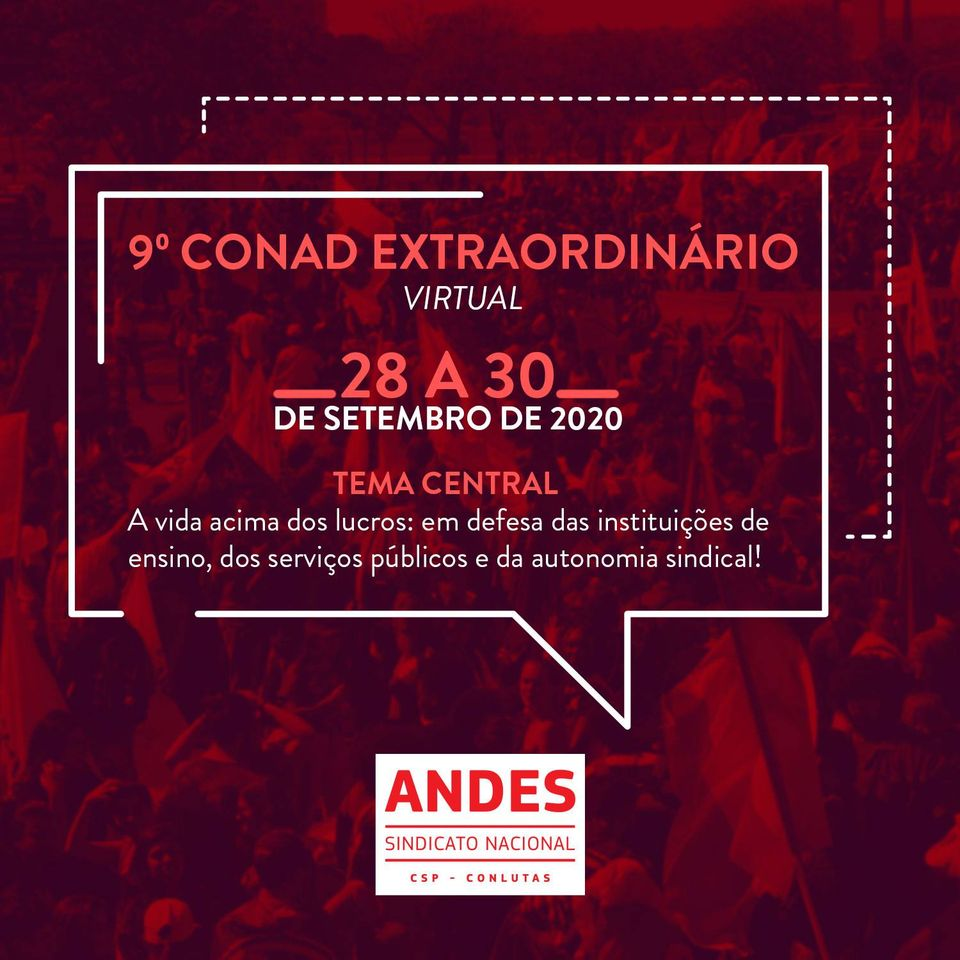 Confira o Caderno de Textos do 9º Conad Extraordinário do ANDES-SN