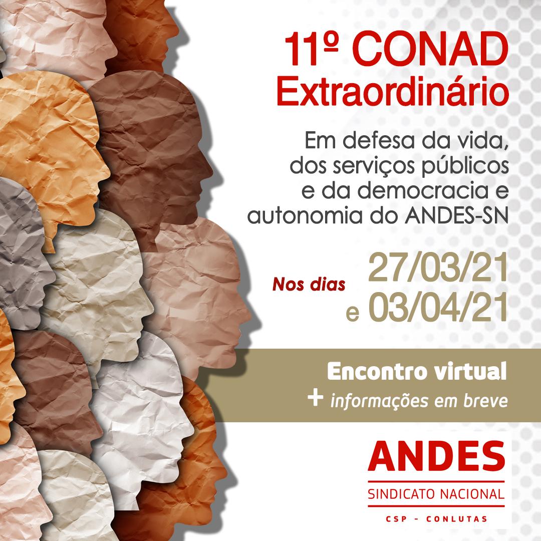 11º Conad extraordinário do ANDES-SN deve debater realização do próximo Congresso da categoria docente