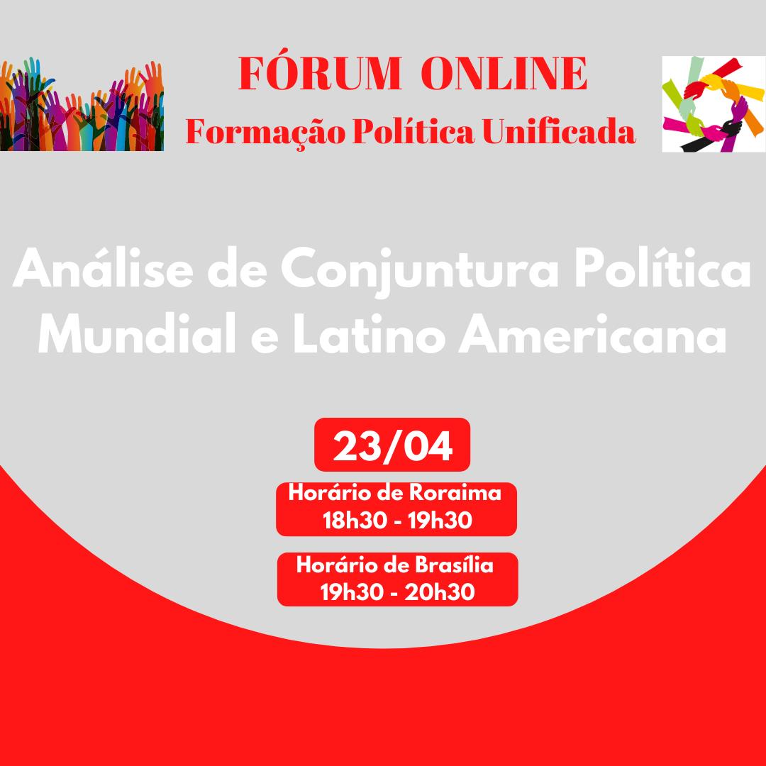 Fórum Online: Formação Política Unificada