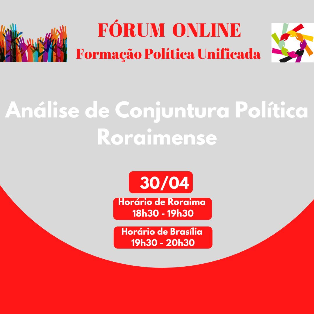 Fórum Online: Formação Política Unificada - 3ª palestra