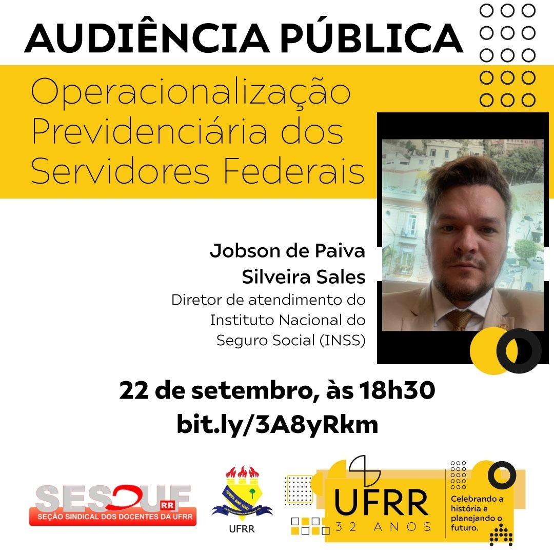 SESDUF-RR e UFRR realizam Audiência Pública para Servidores Federais
